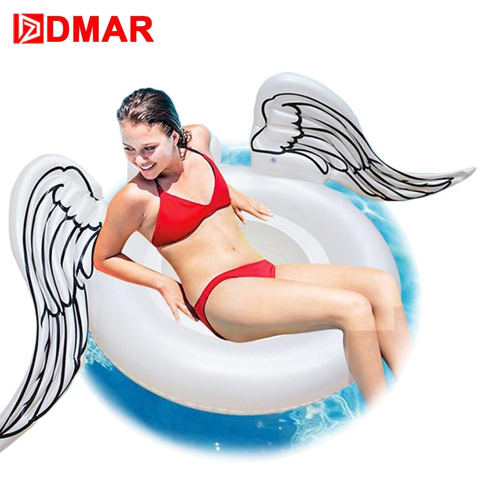 DMAR 180cm 71 Inflatable Wings Gaint Pool Float Mattress Toys Seat Swimming Ring Circle Beach Sea Water Toys Flamingo Unicorn