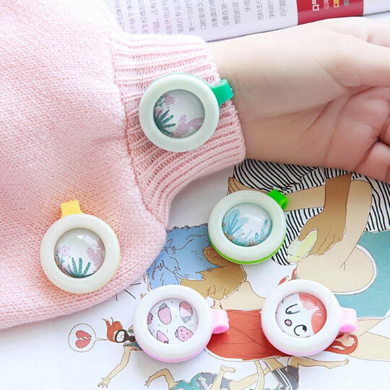 Child Mosquito Repellent Buttons Bracelet Stickers Baby Pregnant Anti Mosquito Pest Control Buttons Mosquito Killer 3 Month Use