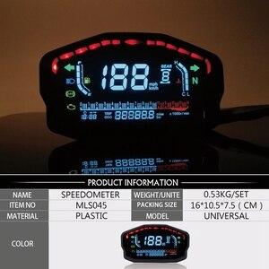 Image 2 - Đa Năng Xe Máy LED LCD Đo Tốc Độ Kỹ Thuật Số Đồng Hồ Đo Đèn Nền Cho Năm 1,2,4 Bình Cho Xe BMW Honda Ducati Kawasaki Yamaha