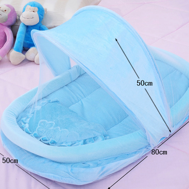Hot Sale New Portable Newborn Babys Bed Mosquito Net Soft Childrens Crib 0-3 Years Sleep Travel Beds Cribs Mat 80x50x50cm