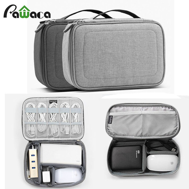 Multifunction Portable Electronic Accessories Cable Bag Travel Organizer Case Sd Card Drives Wires Freely Combined Storage