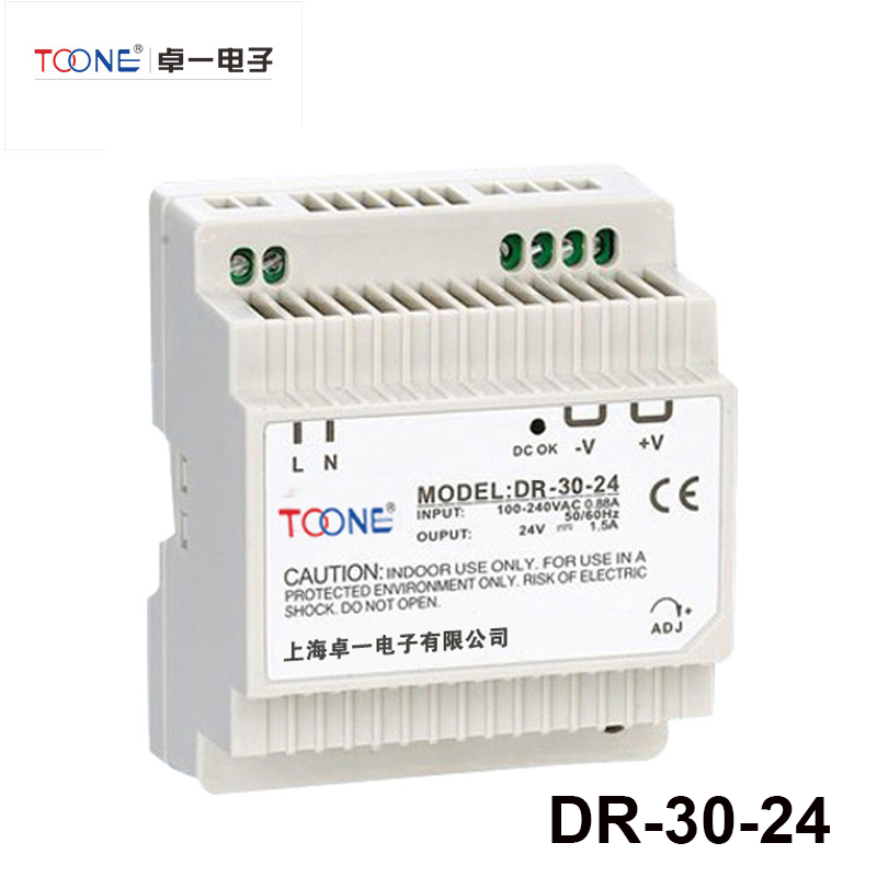Din-Rail Series 30W 12V 2.5A Switch Mode LED Light Devices Switching Power Supply 220V AC-DC PSU DR-30-24 ac dc dr 60 5v 60w 5vdc switching power supply din rail for led light free shipping