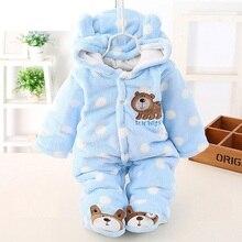 Детский фланелевый комбинезон с животными, зимний теплый комбинезон для новорожденных, детская одежда для мальчиков и девочек