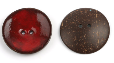 Цветная круглая Кокосовая декоративная кнопка, большая Деревянная пряжка, сделай сам, пальто для одежды, Кокосовая оболочка, клеевая кнопка, Детская Кнопка 63 мм - Цвет: 1