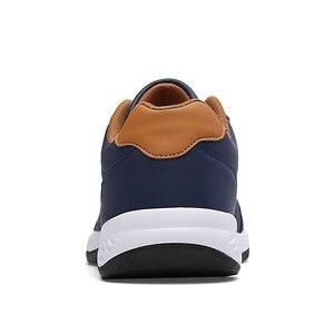 Image 4 - אופנה גברים סניקרס גברים נעליים יומיומיות לנשימה תחרה עד Mens נעליים יומיומיות אביב עור נעלי גברים chaussure homme