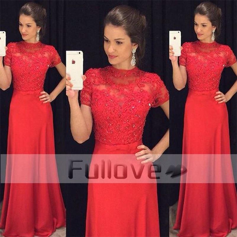 Noble Red Appliques   Prom     Dresses   Long 2019 Sheer Beaded Formal   Prom   Party   Dress   Evening Gowns Vestidos De Fiesta Galajurken