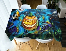 Wow! So Horrible 3D Tablecloth Terror Pattern Frightened Family Halloween Washable Cloth Rectangular and Round Table Cloth table so 45 200ma