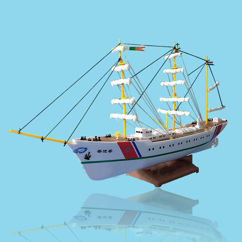 Free shipping Endeavour Electric Powered Saiboat Model Assembly model ship,handmade sailing,DIY yacht toy,children gift free shipping voyager 2 4g mini rc sailboat sailing electric ship model yacht handmade boat toys children gift
