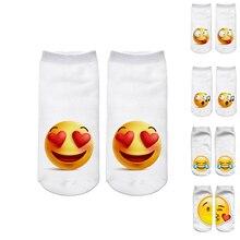 Women's 3D Emoji Printing Funny Short Socks