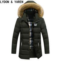 Winter Jacket Men Plus Dense Velvet Warm Jacket Men S Casual Length Thickening Men S Coat