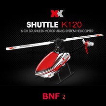 XK K120 BNF 2 Version (without Remote Conbtrol ) (with battery ,charger ) 6CH RC Helicopter with Brushless Motor 3D6G System