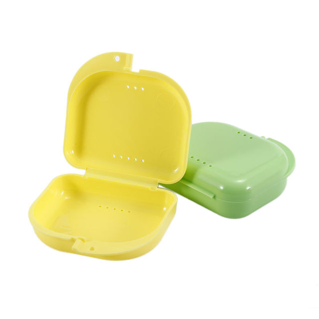Fashion Orthodontic Mouth Guard Denture Retainer Box Dental Storage  Container