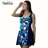 2017 Women Summer Dress One Piece Swimsuits Big Women Extra Large Size Swimwear Big Girl Swimwear