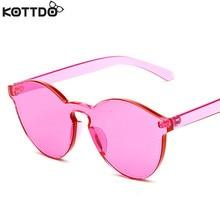 KOTTDO Fashion Women Cat Eye Sunglasses Retro Round Sun glasses Luxury Brand Designer Ladies Sunglasses Girl Candy Color UV400