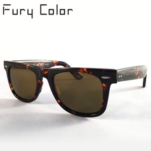 Classic Women Men Sunglasses Glass lens luxury brand