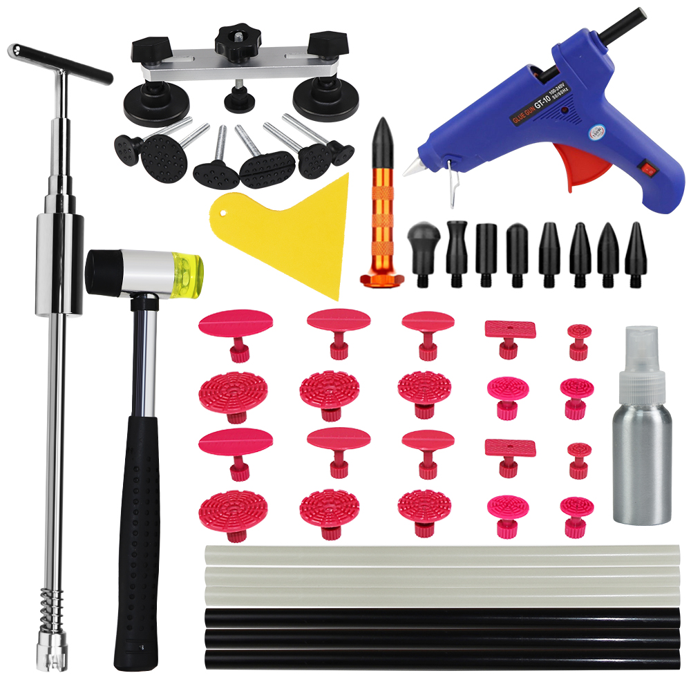 PDR Tools Paintless Dent Repair Tools Dent Removal Car Body Repair Kit Tool To Remove Dents Dent Puller set pdr tools to remove dents car dent repair paintelss dent removal puller kit lifter removal glue tabs fungi sucker hand tool set