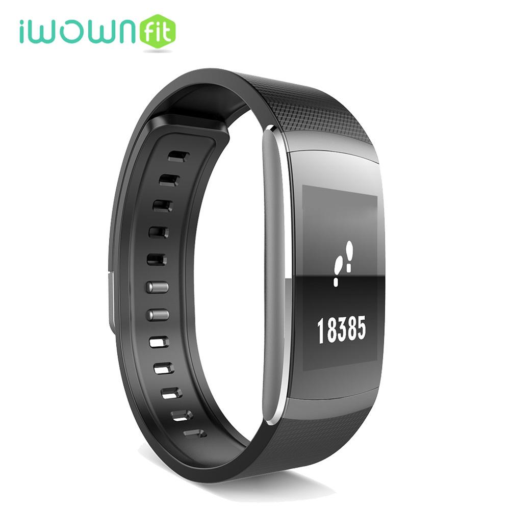 Prix pour Ip67 d'origine iwown i6pro bande à puce bracelet moniteur de fréquence cardiaque fitness tracker smartband pour andriod ios pk xiaomi mi bande 2