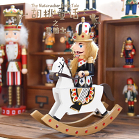 Creative 30cm Wood Nutcracker King Soldiers Figurine Pop Christmas Decoration Halloween Accessories New Year Birthday Gift