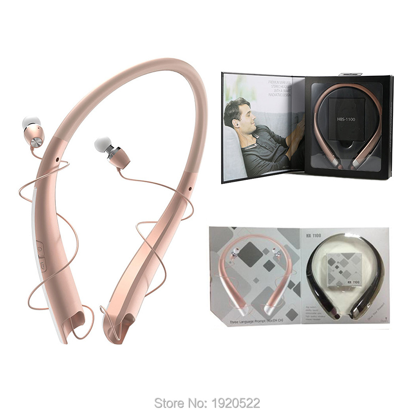 HBS1100 HX1100 HBS-1100 Bluetooth Wireless Headset CSR4.1 High Quality Neckband Sports Earphones with Mic Headphones