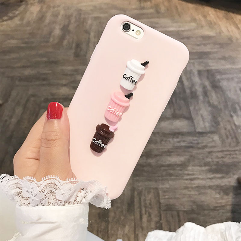 1c59e08ea69 Abbery 3D Milk Coffee Cute Soft TPU Funda Case for iPhone XR XS X Max  Silicone Back Cover for iPhone 5 5S SE 6 6S 7 8 Plus Case -in Fitted Cases  ...