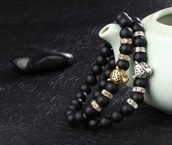 Bracelet Onyx Noir Mat Homme