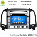 5.1.1 Quad Core Android DVD Do Carro Para HYUNDAI SANTA FE 2006 2007 2008 2009 2010 2011 2012 Com 16 GB Flash Wifi BT Mapa Livre GPS