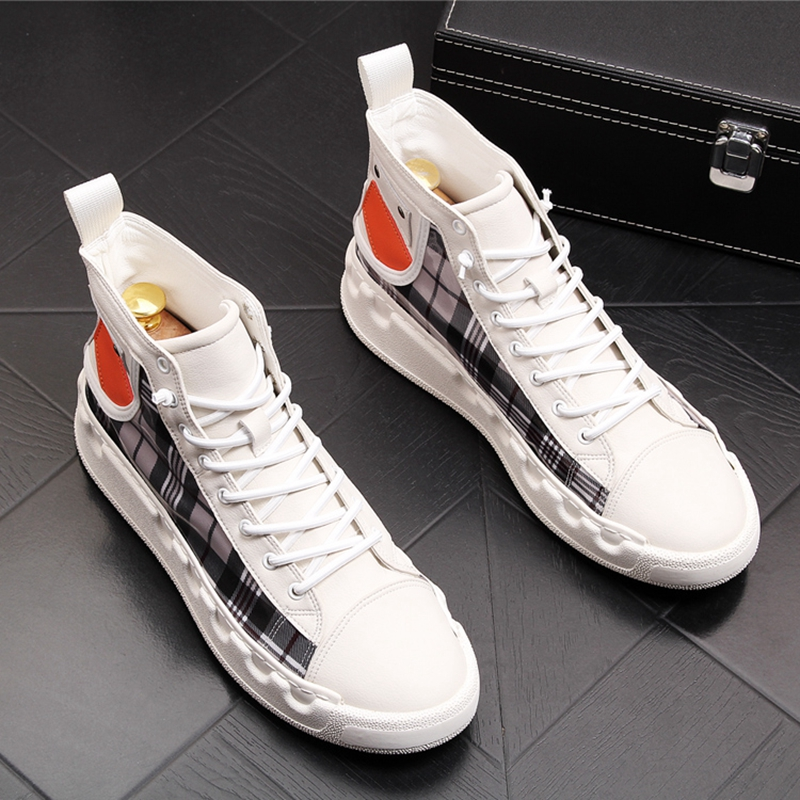Stephoes Luxury Brand Men Casual Ankle Boots Spring Autumn High Top Men's Vulcanize Comfortable Sneakers Walking Leisure Shoes-in Men's Casual Shoes from Shoes on Aliexpress.com | Alibaba Group 39