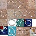 Promoção Big populares Preço de Fábrica venda quente Pulseiras de Cadeia, atacado moda 925 jóias de prata banhado a Pulseira // A01