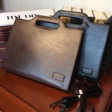 Etonweag neue 2016 männer berühmte marken italienischen leder braun reißverschluss business-stil aktentaschen vintage dokument laptop umhängetaschen