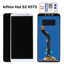 LCD Screen for Infinix Hot S3 LCD X573 LCD Touch Screen Digitizer Complete infinix X573 LCD Display Full Assembly parts(China)