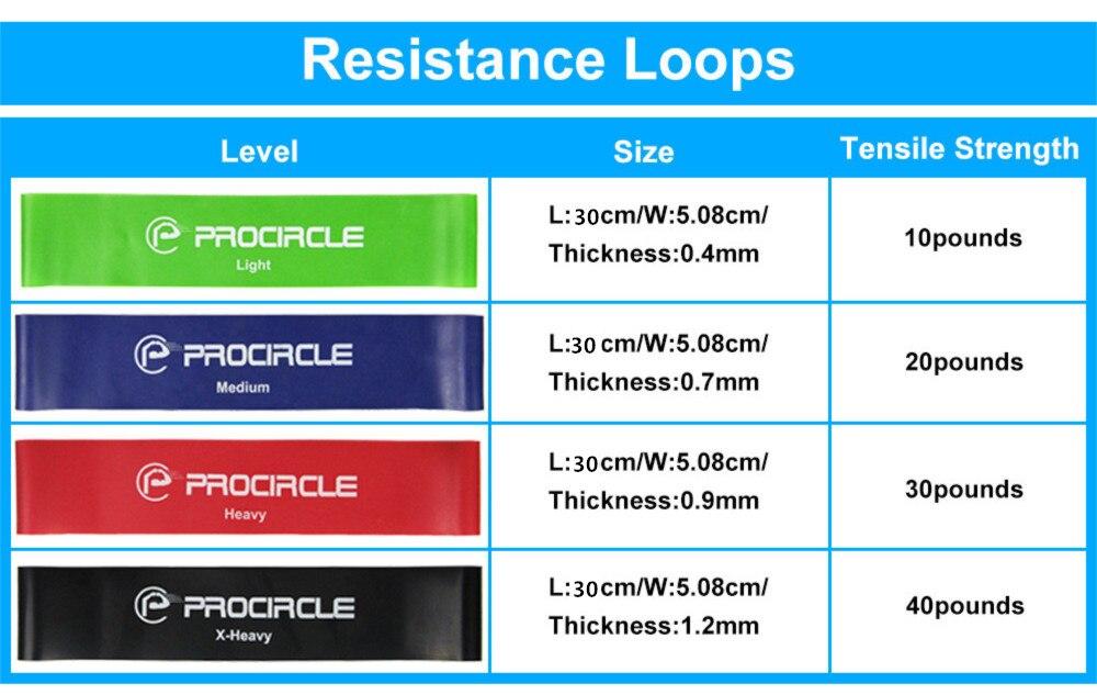 4pcs 30CM otporne trake guma za vježbanje gimnastike za fitness - Fitness i bodybuilding - Foto 6