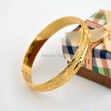 Женский браслет однотонный на запястье жёлтый золотистый Свадебный