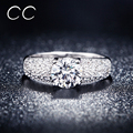 Hot Sale Vintage Engagement Wedding Rings For Women White Gold & Rose Gold Plated CZ Diamond Jewelry Ring Bijoux Best Gift CC024