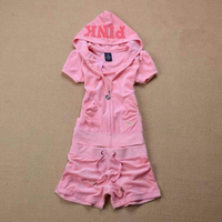 Hot Sale 2015 Spring Women S Short Sleeve Pink Tracksuits Sportswear Trak Suit Jogging Suit Fashion