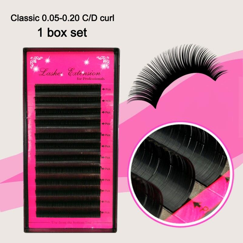 43d8558d 1lot Eye Lashes, Individual 3D J/B/C/D False Mink EyeLashes Extension Silk  Soft, Charming Lash, 7-15mm All Size/mix Size Lashes