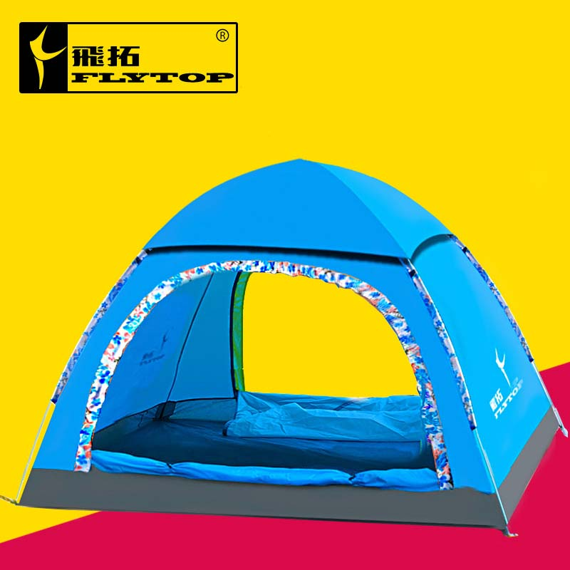Flytop 2-4 person Quick Automatic Opening outdoor tent Portable Quickly open Camping Tents waterproof hiking travel tent flytop 3 4 person outdoor tent large capacity camping hiking waterproof tents ultralight outdoor travel tents 4 doors breathable page 4