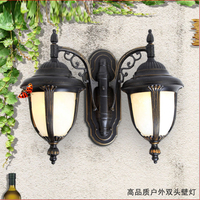 Double aluminum waterproof outdoor lighting wall lamps warm white cool white led wall light garden lamparas de exterior 100 240v