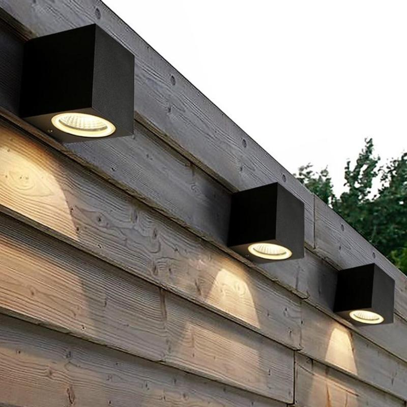 3W/5W IP65 Modern Brief Cube LED Wall Light Waterproof Indoor Outdoor Surface Mounted Lamp AC 85V- 265V 50-60Hz Garden Light free shipping hi q aluminum modern brief led stair light 85 265v 3w wall mounted spotlight background light step aisle lamp