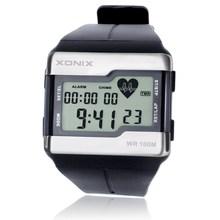 ¡ Caliente!!! Pulsómetro XONIX Moda Hombres Deportes Relojes Resistentes Al Agua 100 m Reloj Digital de Natación Buceo Reloj Montre Homme