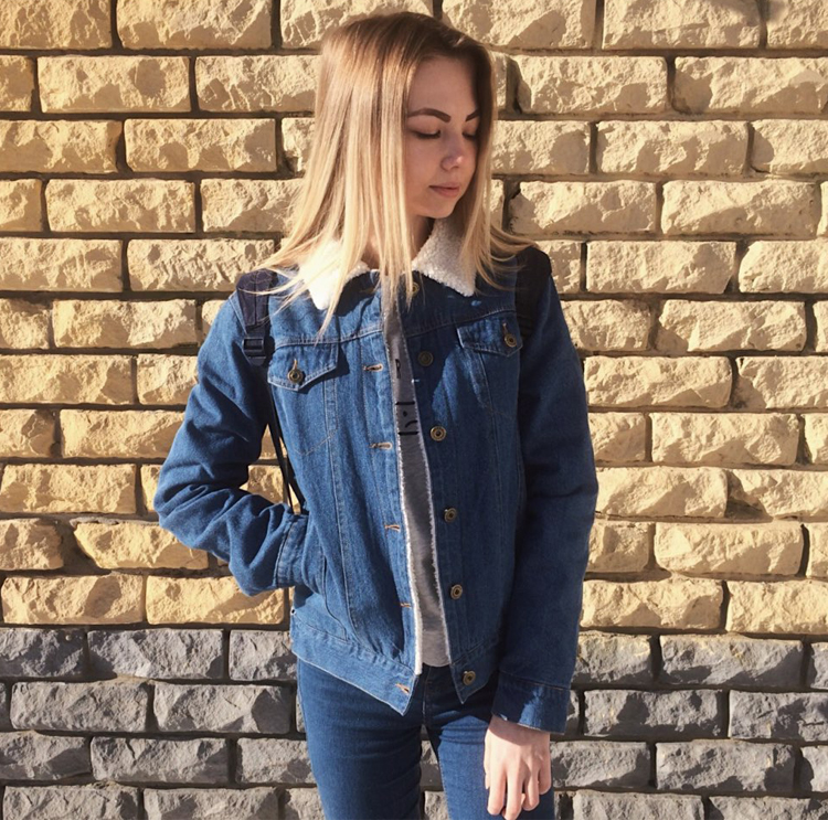 iStylishmall- Spring Autumn Winter New 2018 Women lambswool jean Coat With 4 Pockets Long Sleeves Warm Jeans Coat Outwear Wide Denim Jacket