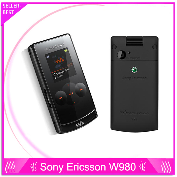 Original Sony Ericsson W980 Mobile Phone Bluetooth 3.15MP Unlocked 3G W980i Cellphone & One Year Warranty