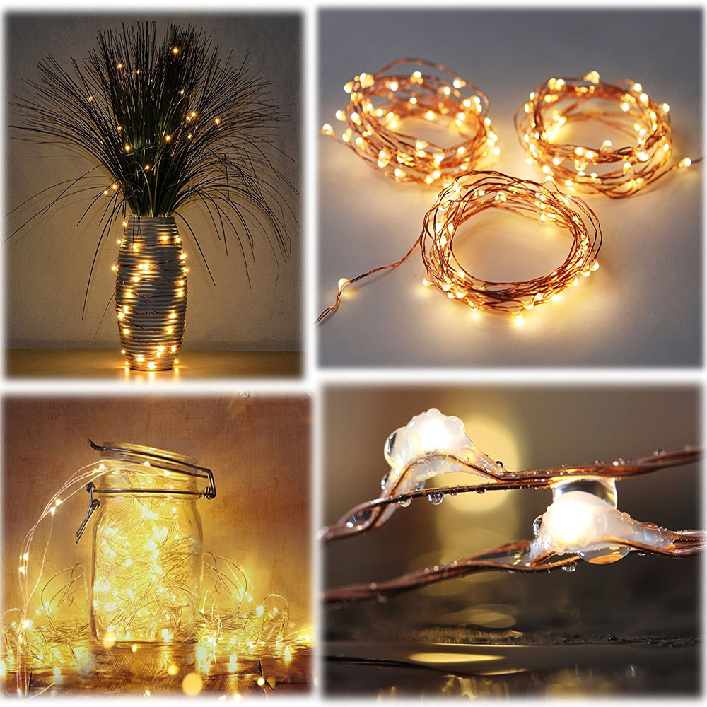 6 Pack Fairy String Lights 7.2ft 20LED Starry String kerge aku - Puhkusevalgustus - Foto 5