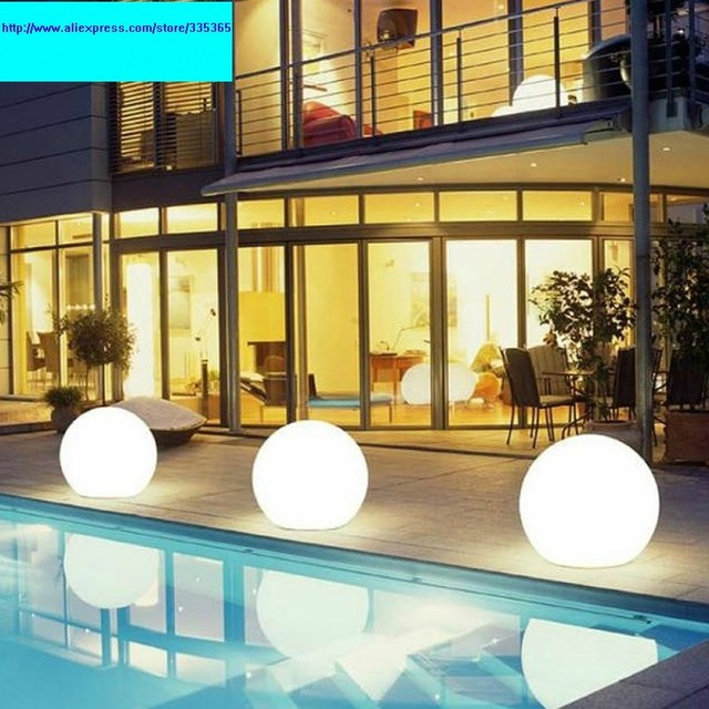 Pe Round Dia 350mm Rgb Rechargeable Battery Outdoor Light Floating On Water Led Swimming Pool