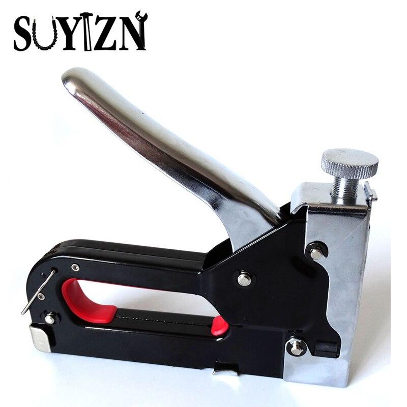 Multitool Nail Staple Gun Furniture Stapler For Wood  Door Framing Rivet Gun Kit (1 Set Nail Gun& Staples+ 1 Box  Extra Staples) mini stainless steel stapler staple set red