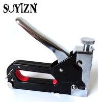 Multitool Nail Staple Gun Furniture Stapler For Wood Door Framing Rivet Gun Kit (1 Set Nail Gun& Staples+ 1 Box Extra Staples)