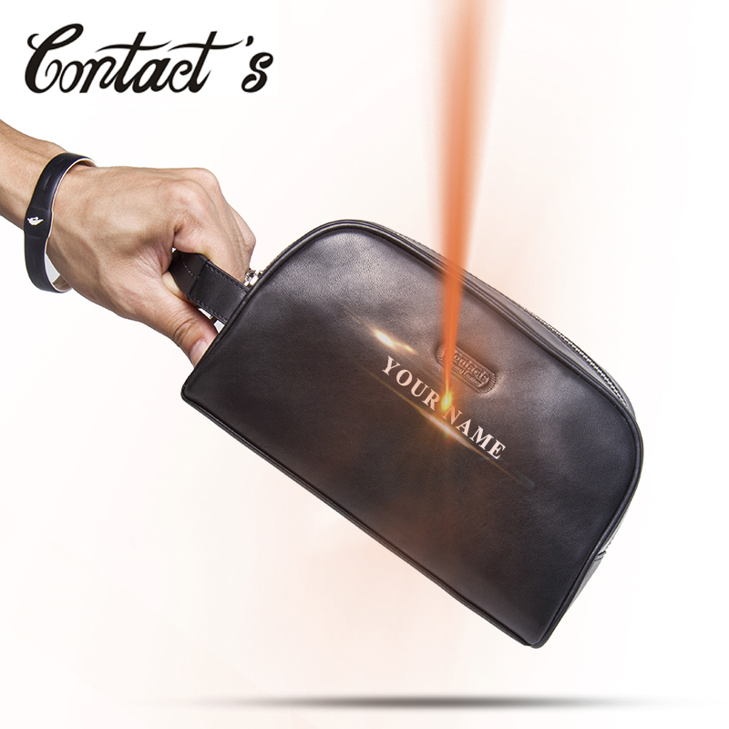 Brand Organizer Fashion Lady Cosmetic Bag Large Capacity Women Makeup Casea and Bag Genuine Leather Men