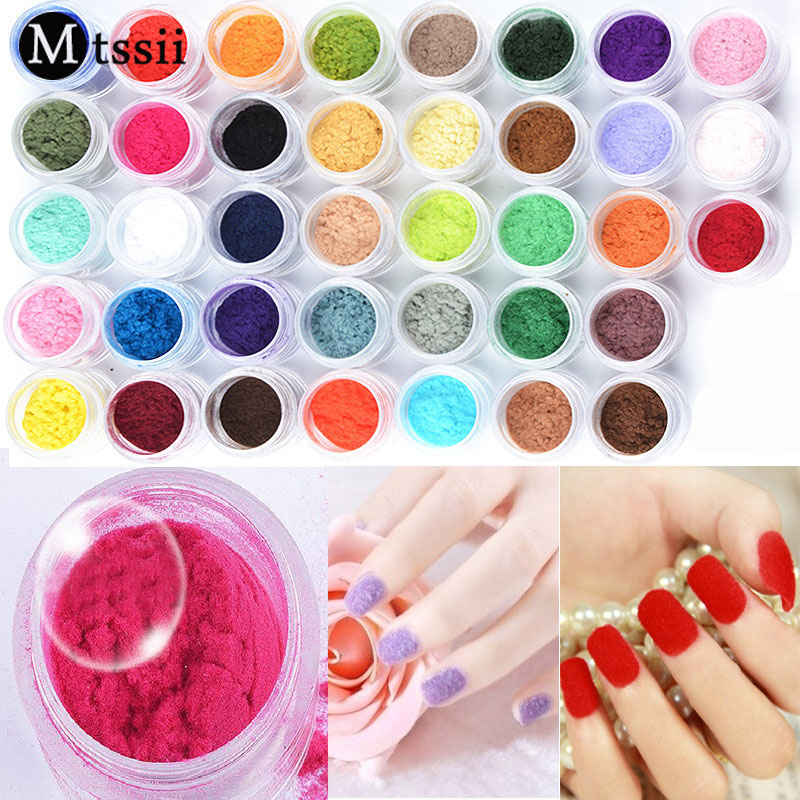 ჱMtssii 38 Colors UV Gel Nail Art Glitter Dust Powder Shining White ...