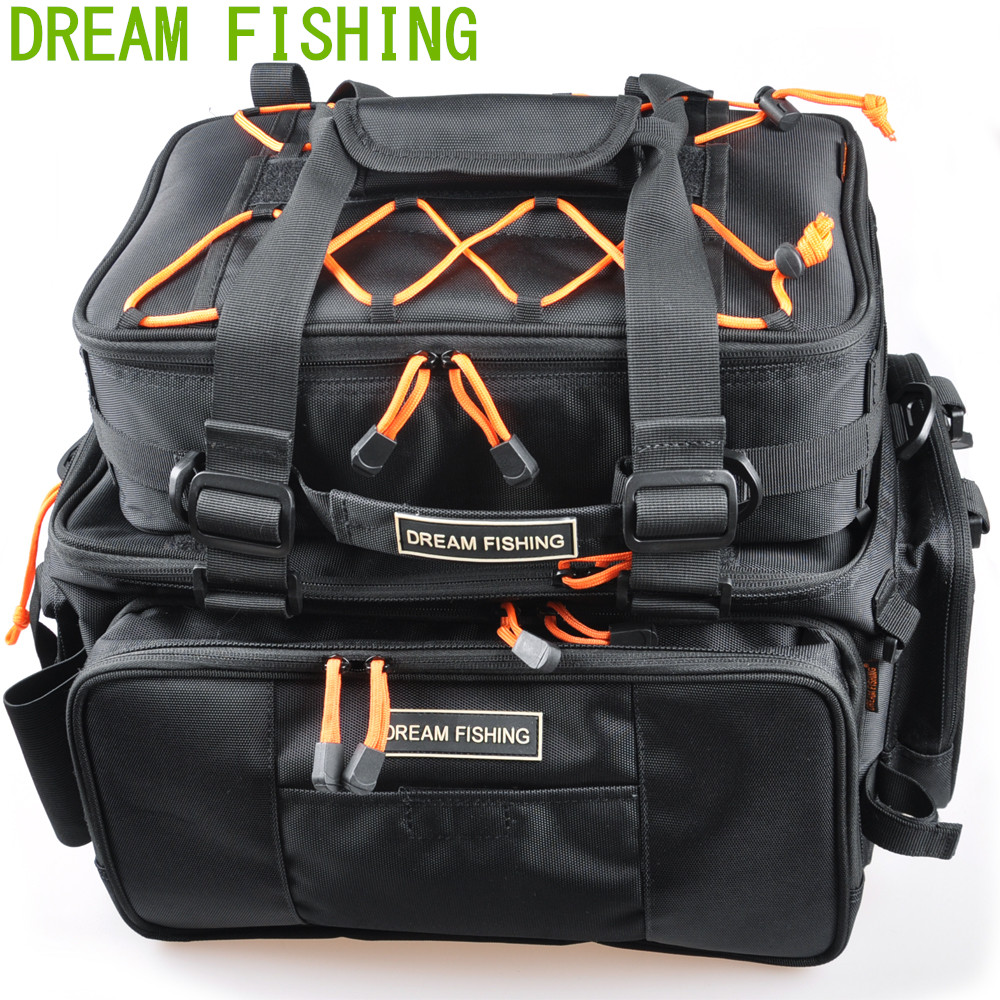 45 5 25 21cm Black Multifunctional Fishing Bag 2 Bags Bolsa De Pesca Waterproof Fly Fishing