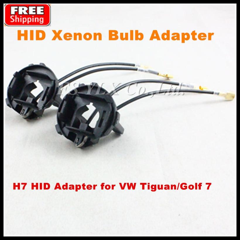 цена на 4pcs HID Xenon Bulbs adapter for VW Tiguan/Golf 7/Scirocco/Sharan/Touran H7 HID Xenon Lamp Bulb Holders Adapters Base Retainers