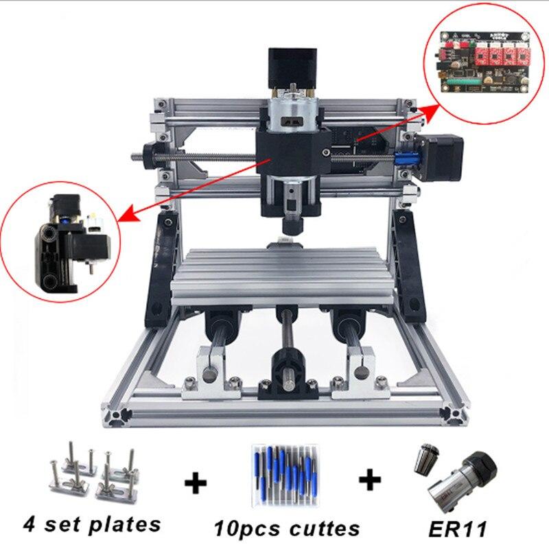 VEVOR CNC 1610 avec ER11 Mini bricolage CNC Machine de gravure Laser 5500mW